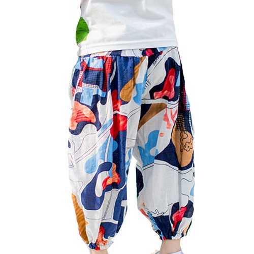 Bohemian Printed Girls Lantern Pants