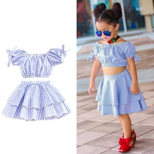 Off Shoulder Toddler Girls Short Set