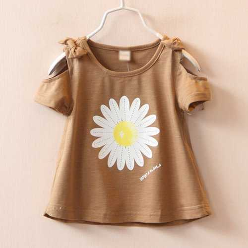 Daisy Printed Toddler Girls Summer Tops