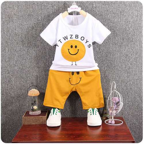 Cute Patchwork Boys Short Sets