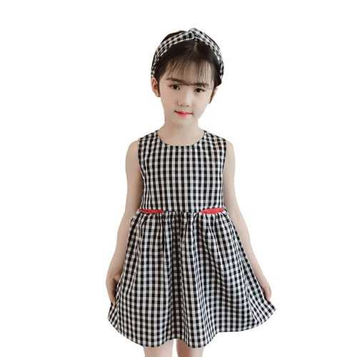 Plaid Elegant A-Line Girls Dress