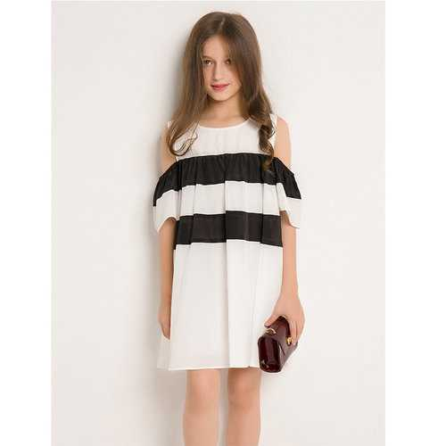 Girls Striped Casual Dress For 6Y-15Y