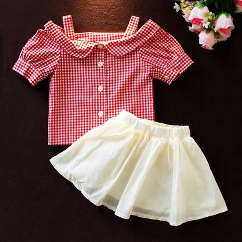 Girls Summer Skirt Set For 1Y-7Y
