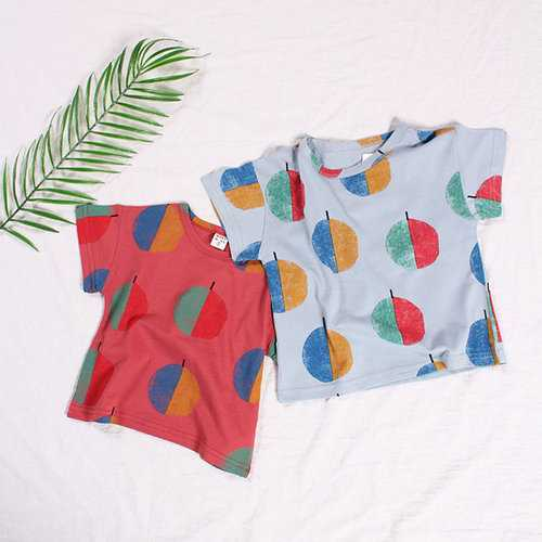Polka Dot Girls Boys Tops For 1Y-5Y