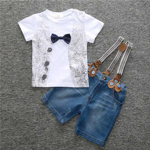 Boy's Cotton Short Sleeve Clothing Set
