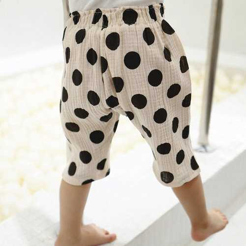 Dot Printed Toddler Girls Summer Pants