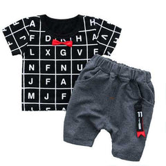 2pcs Print Toddlers Boys Clothing Sets