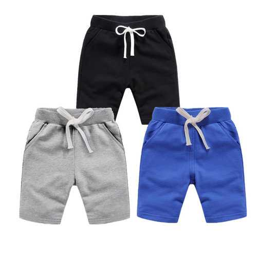 Soft Cotton Boys Sport Shorts For 1Y-11Y