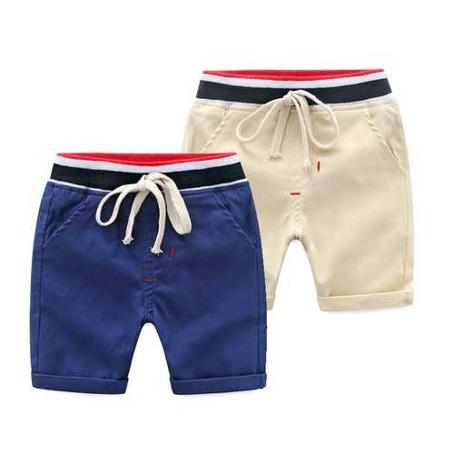 Solid Color Boys Sport Shorts For 2Y-9Y