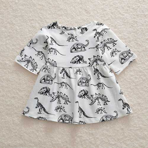 Dinosaur Print Toddlers Girls Dresses