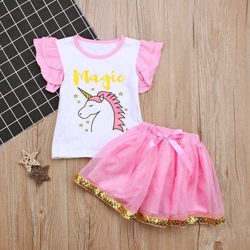 Animal Toddlers Girls Clothing Set