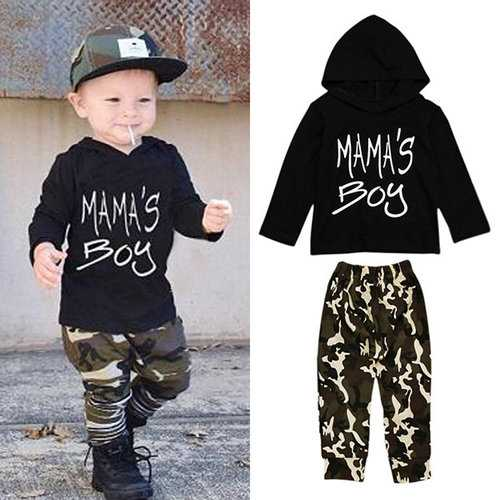 2pcs Printed Boys Kids Clothing Sets