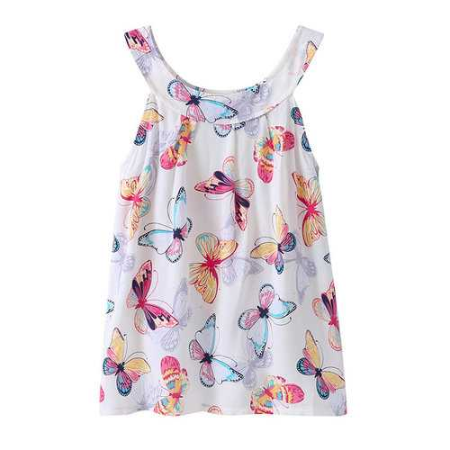 Butterfly Girls Casual Dress For 3Y-9Y