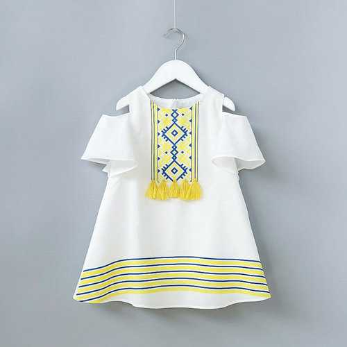 Off Shoulder Toddler Girls Summer Dress