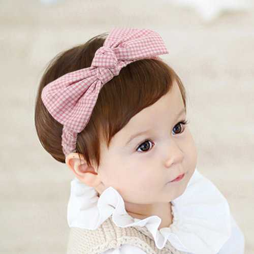 Plaid Bowknot Headband For 0-3 Years