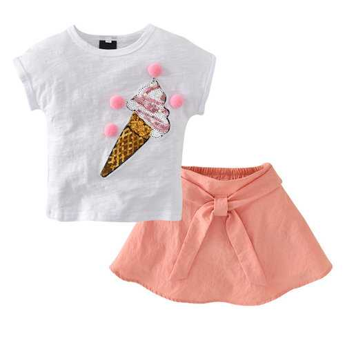 Cute Kids Girls Print Clothing Set