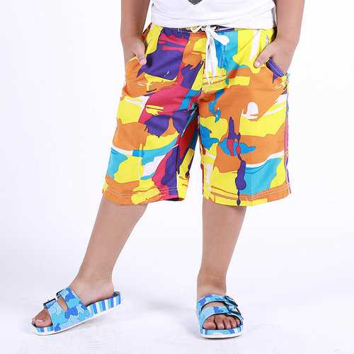 Fast Dry Graffiti Boys Shorts For 4Y-11Y