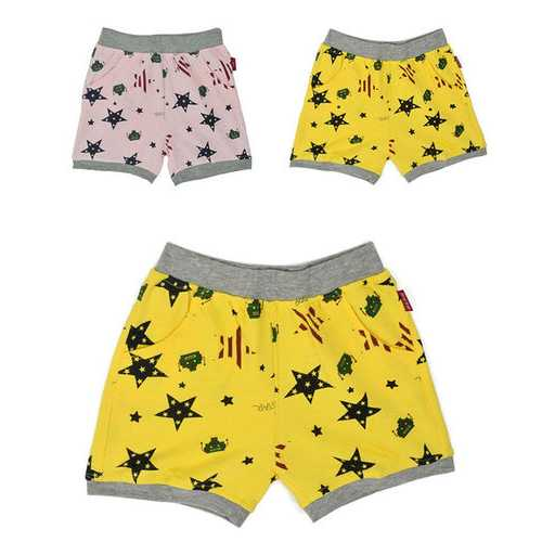 Printed Unisex Cotton Shorts For 6Y-13Y