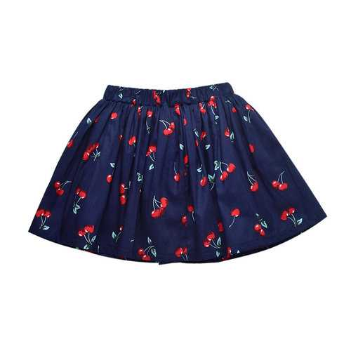Cute Cherry Girls Short Skirt For 3Y-11Y