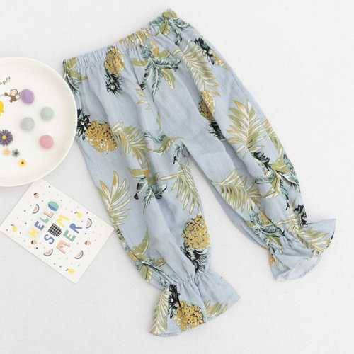 Girls Summer Pants For 1-7 Years