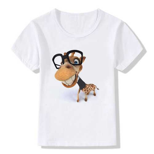 Cartoon 3D Print Boys T-shirt