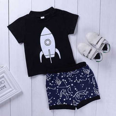 2pcs Printed Kids Boys Clothing Set