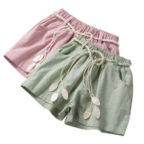 Solid Color Toddlers Girls Shorts