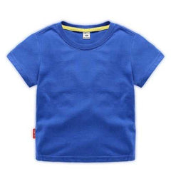 Solid Color Boys Tops & T-Shirts