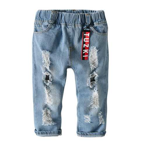 Elastic Waist Boys Denim Jeans