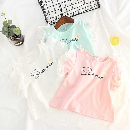 Summer Printed Girls Cotton Tops