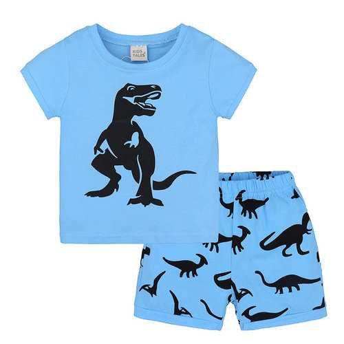 2Pcs Dinosaur Boys Clothing Set