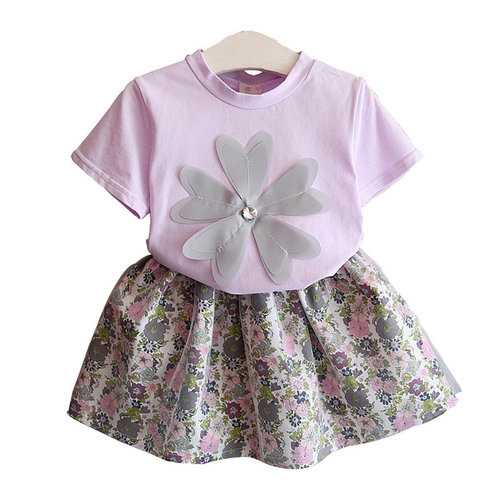Floral Girl Summer Clothing Set
