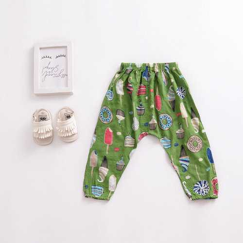 Floral Girls Pants For 1-7 Years