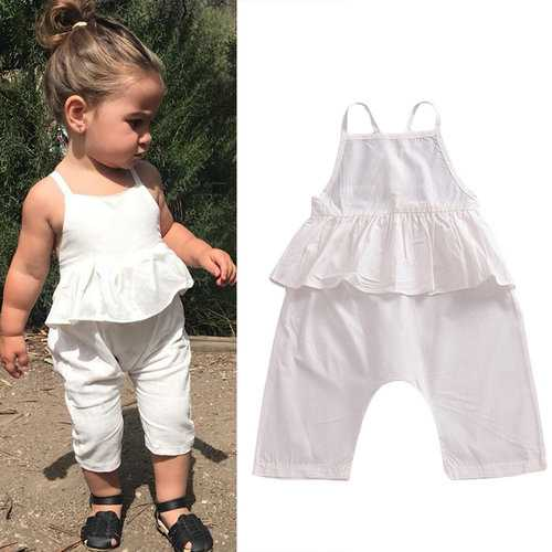 Infant Girls Strap Jumpsuit For 1Y-5Y