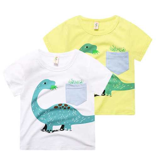Cartoon Animal Pattern Boy T-shirt