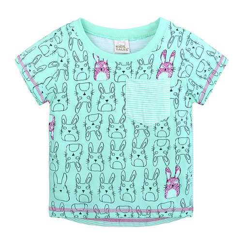 Rabbit Graphic Boys Girls T-shirt For 1Y-9Y