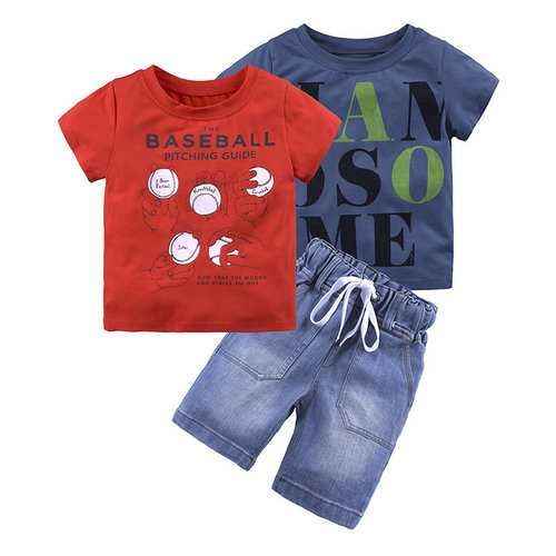 3Pcs Summer Boys Clothing Set For 1Y-9Y