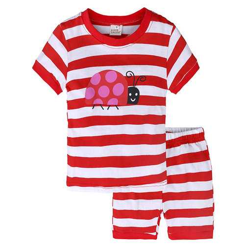 2Pcs Girls Striped Clothes Set For 1Y-9Y