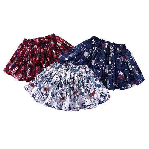 Summer Floral Girls Cute Skirt For 1Y-7Y