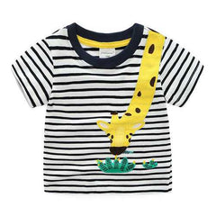 Animal Boys Striped T-Shirt For 1Y-9Y
