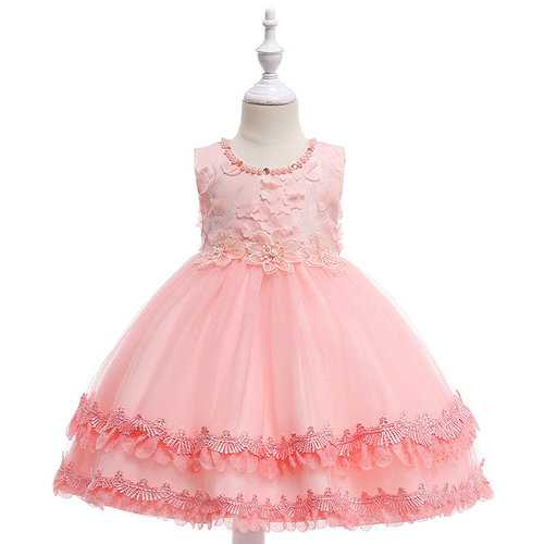 Diamond Girl Flower Princess Dress For 4-13Y