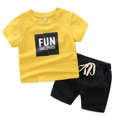 Fun Print Boys Shorts Set For 2-9Y
