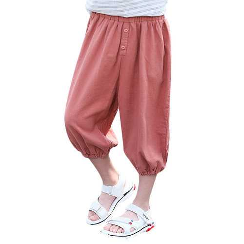 Solid Color Boys Jogger Pants For 4Y-15Y