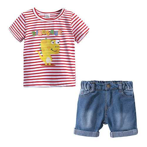 Dinosaur Boys Short Sets For 2Y-11Y