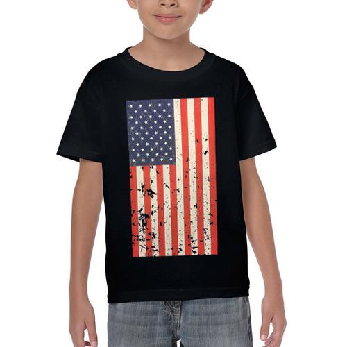 AFONiE- Kids USA Rustic Flag Graphic T-shirt
