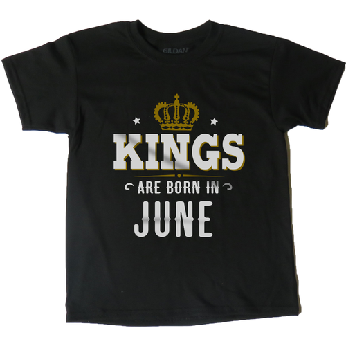 AFONiE Kings Are Born In Kids T-Shirt