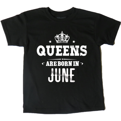 AFONiE Queens Are Born In Kids T-Shirt
