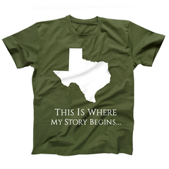 AFONiE Where My Story Begins Texas Kids T-Shirt