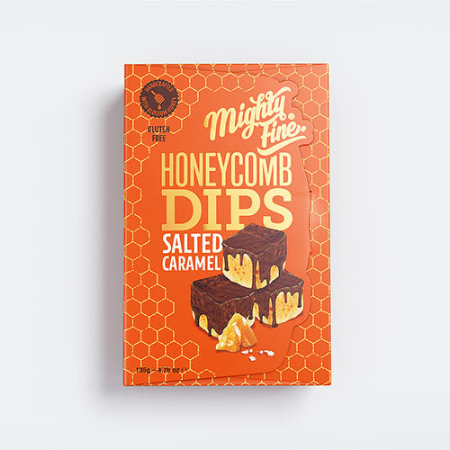 Mighty Fine Honeycomb - Milk Salted Caramel Dips x 135g