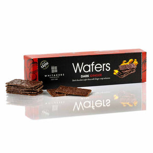Whitakers - Dark chocolate Ginger Wafer Thins x 175g.